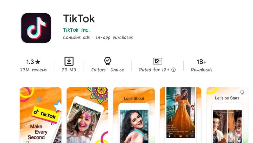 Tiktok app rating